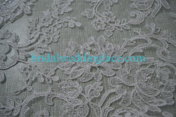 Attractive Sku: ECLF001; Description: Embroidered And Corded Lace Fabric Bridal Lace  Fabric ECLF001 For Wedding Dresses Bridal Gowns DIY; Product Options
