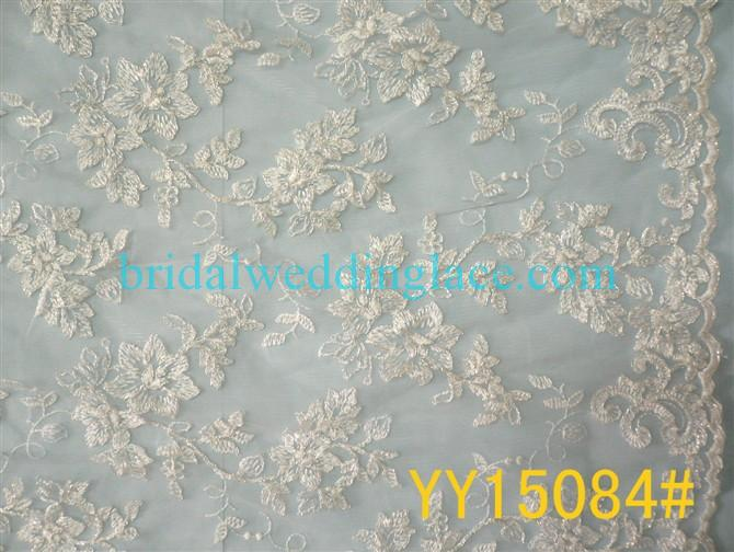 Embroidered Corded Lace Fabric Bridal Lace Fabric YY15084 For ...