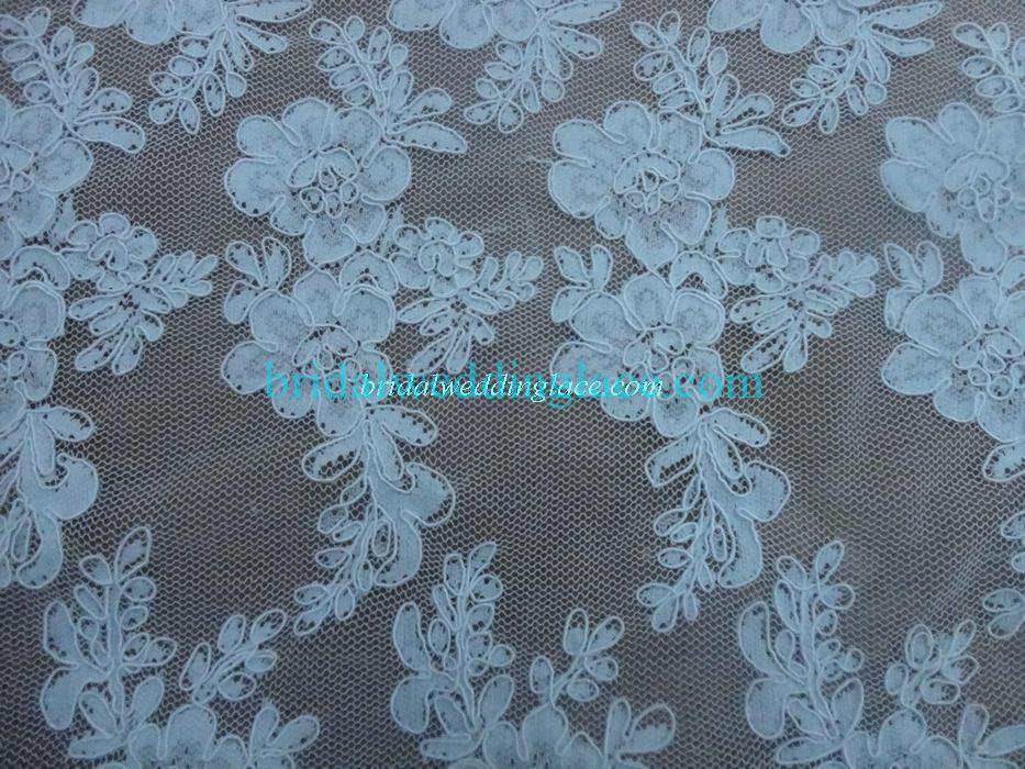 Black / White / Ivory Corded Lace Fabric Bridal Lace Fabric CLF006 ...
