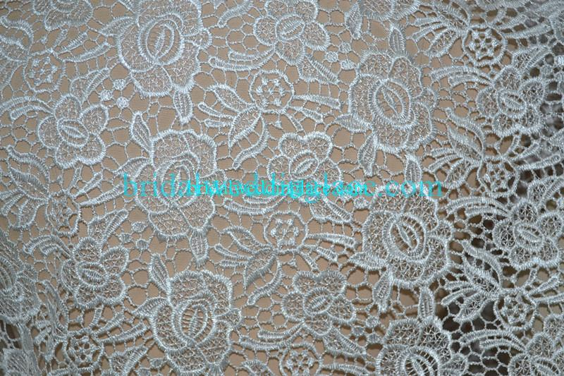 White ivory red black water soluble lace fabric for Wedding dress lace fabric