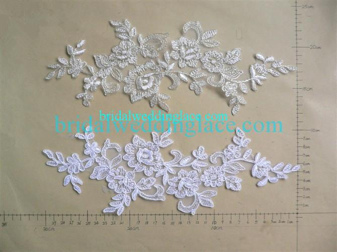 Venise lace applique bridal lace applique colors to choose
