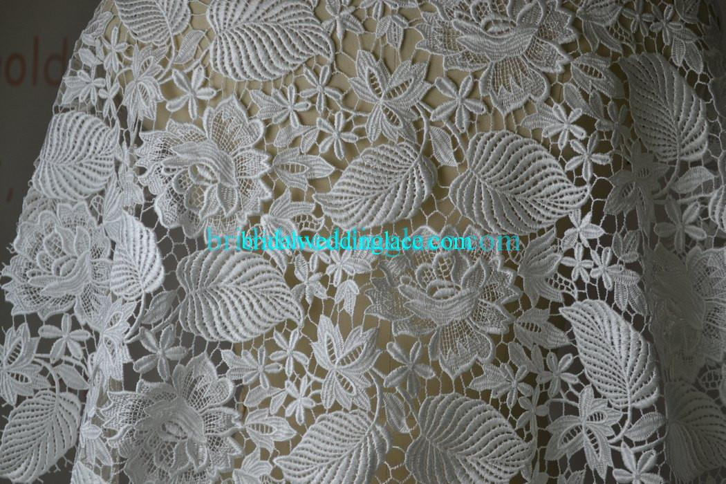 Quality water soluble lace fabric bridal lace fabric for Wedding dress lace fabric