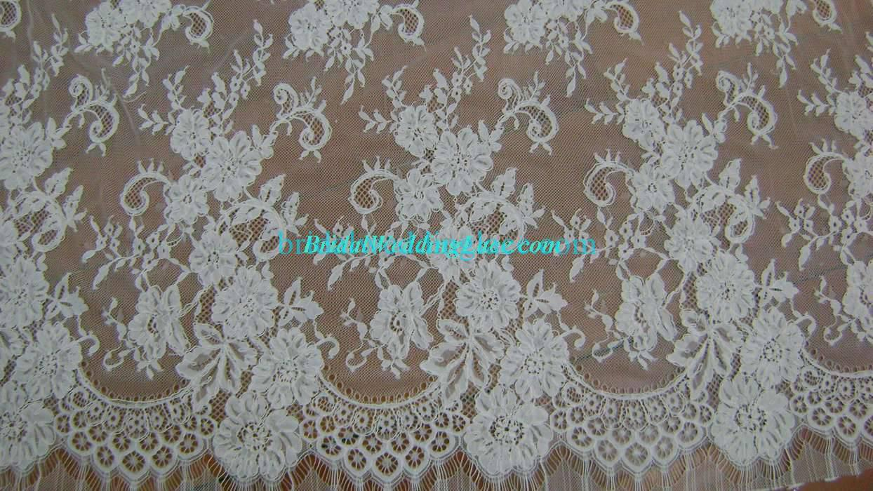 3.3 yards Eyelash French Lace Upscale Bridal Lace Fabric FLF018 ...
