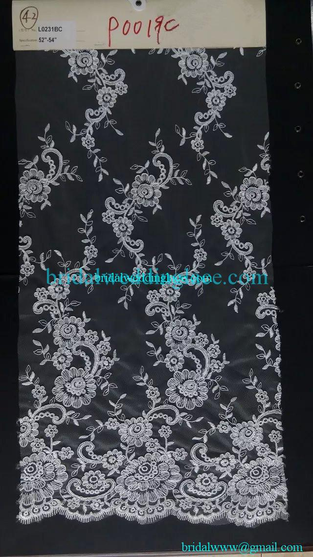 Quality corded embroidery bridal lace fabric wedding