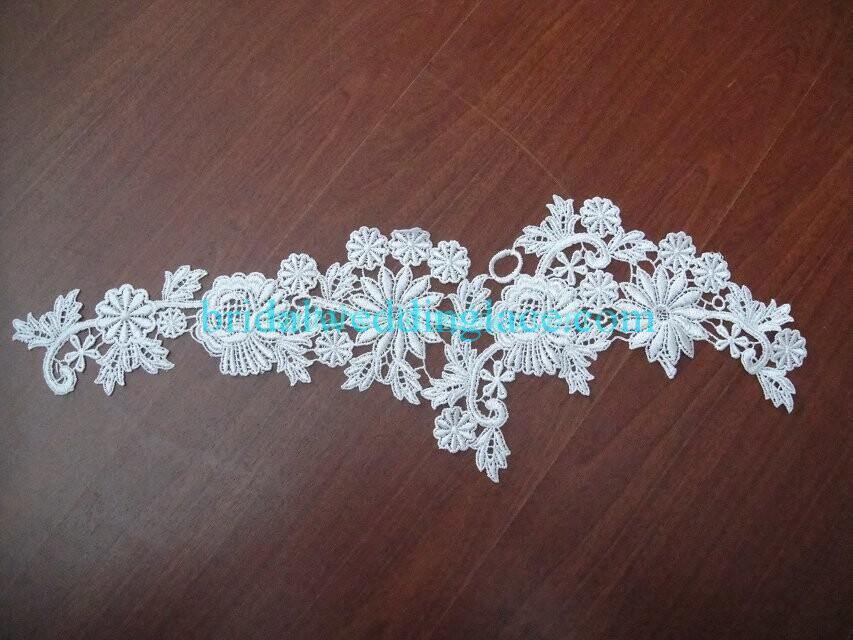 Cheap Light Ivory/ Off White Water-Soluble Lace Applique Wedding Dresses Bridal Gowns DIY Solubility Lace Applique Motif WSLM1691811