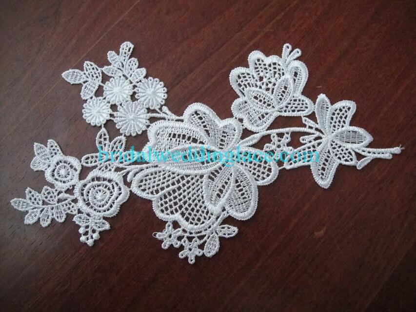 Cheap Light Ivory/ Off White Water-Soluble Lace Applique Wedding Dresses Bridal Gowns DIY Solubility Lace Applique Motif WSLM1691813