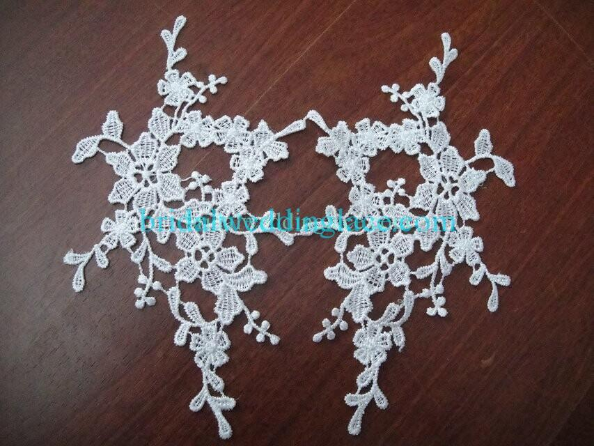 Cheap Light Ivory/ Off White Water-Soluble Lace Applique Wedding Dresses Bridal Gowns DIY Solubility Lace Applique Motif WSLM1691814