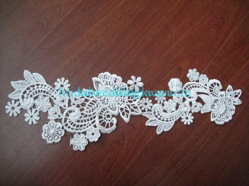 Cheap Light Ivory/ Off White Water-Soluble Lace Applique Wedding Dresses Bridal Gowns DIY Solubility Lace Applique Motif WSLM1691817