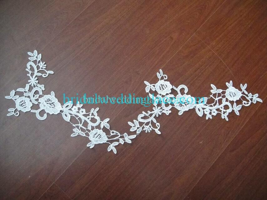 Cheap Light Ivory/ Off White Water-Soluble Lace Applique Wedding Dresses Bridal Gowns DIY Solubility Lace Applique Motif WSLM1691820