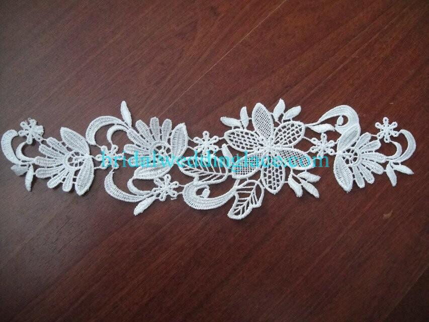 Cheap Light Ivory/ Off White Water-Soluble Lace Applique Wedding Dresses Bridal Gowns DIY Solubility Lace Applique Motif WSLM1691824