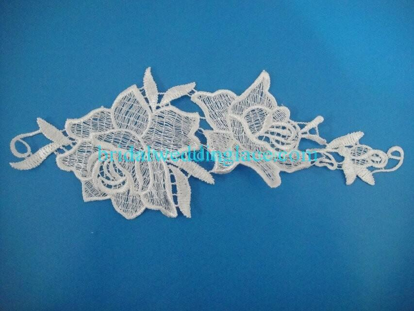Cheap Light Ivory/ Off White Water-Soluble Lace Applique Wedding Dresses Bridal Gowns DIY Solubility Lace Applique Motif WSLM1691831