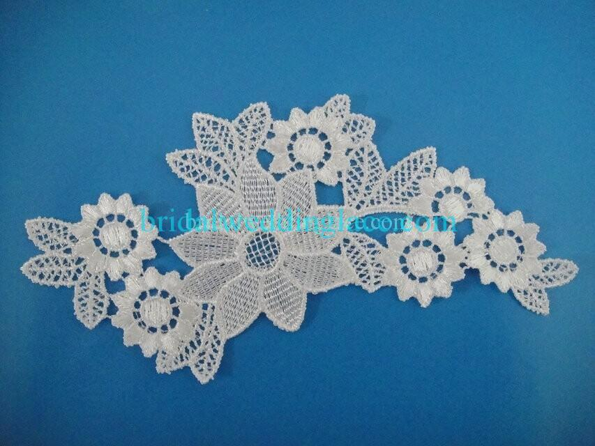 Cheap Light Ivory/ Off White Water-Soluble Lace Applique Wedding Dresses Bridal Gowns DIY Solubility Lace Applique Motif WSLM1691834