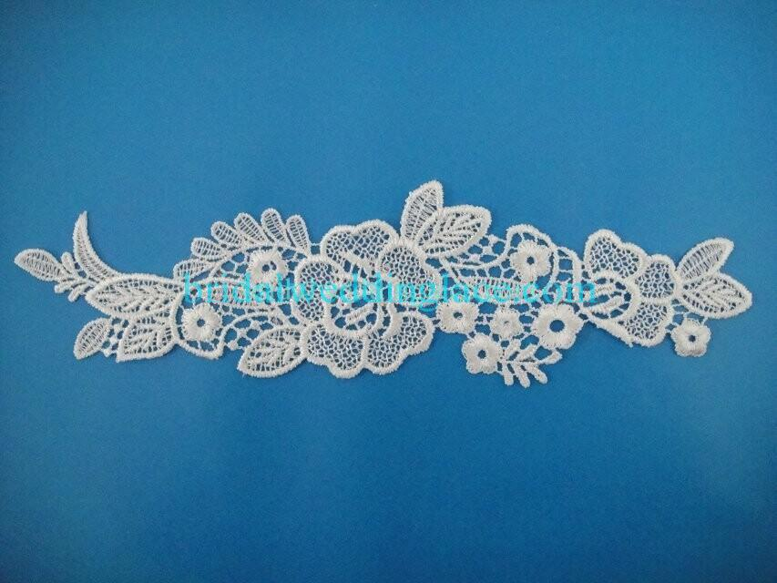 Cheap Light Ivory/ Off White Water-Soluble Lace Applique Wedding Dresses Bridal Gowns DIY Solubility Lace Applique Motif WSLM1691835