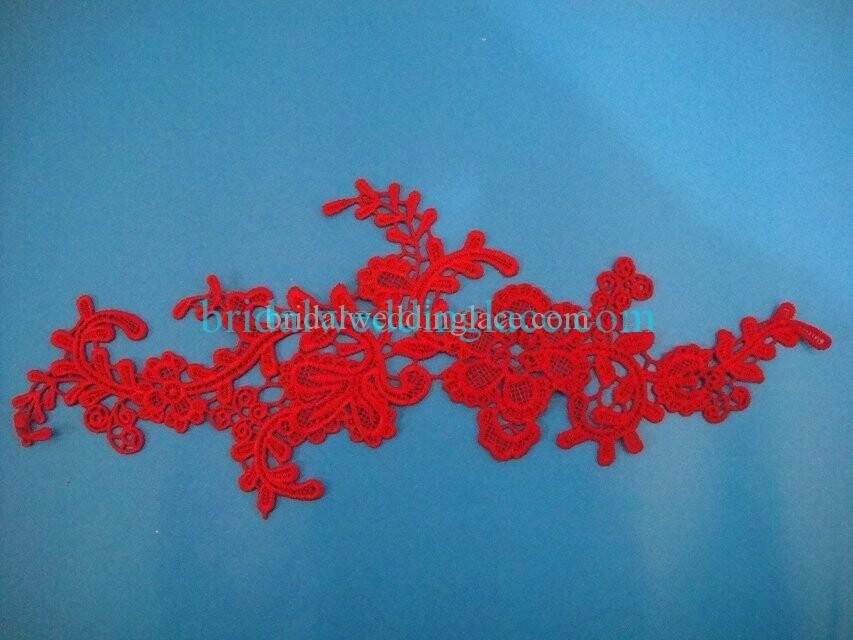 Cheap Red Color Water-Soluble Lace Applique Wedding Dresses Bridal Gowns DIY Solubility Lace Applique Motif WSLM1691836