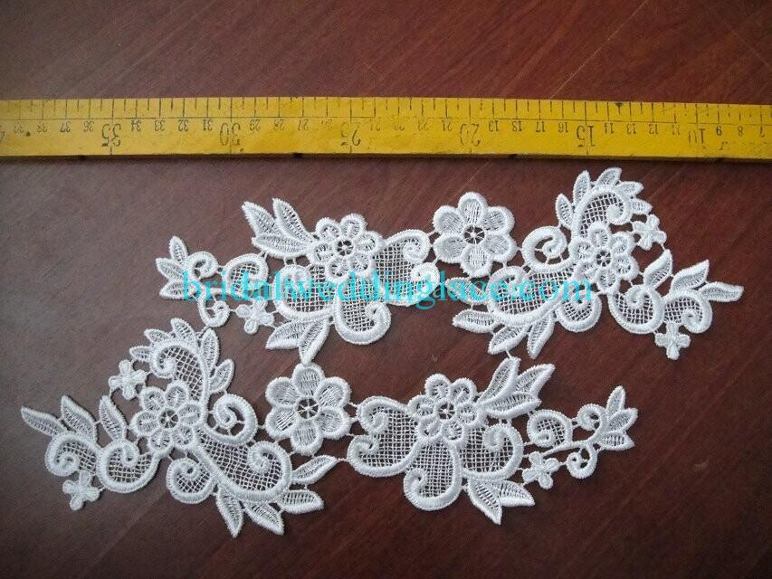 Cheap Light Ivory/ Off White Water-Soluble Lace Applique Wedding Dresses Bridal Gowns DIY Solubility Lace Applique Motif WSLM1691805