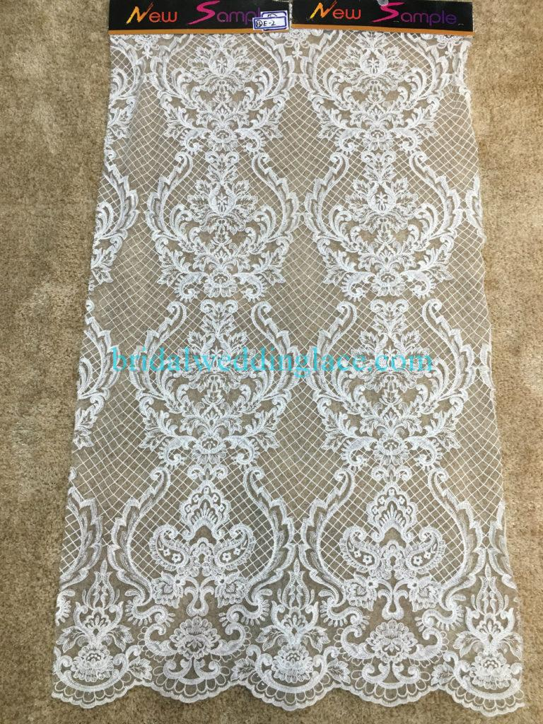 Quality Ivory Embroidery Bridal Lace Fabrics Bodice To Skirt One Piece Lace #941201