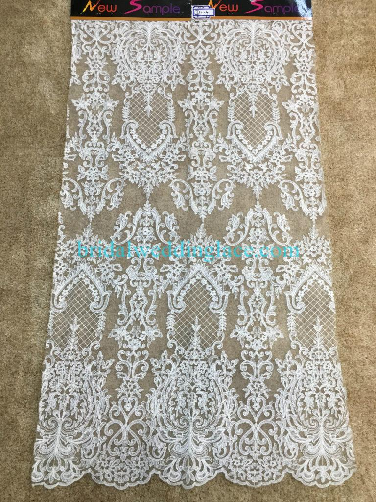 Quality Ivory Embroidery Bridal Lace Fabrics Bodice To Skirt One Piece Lace #941202