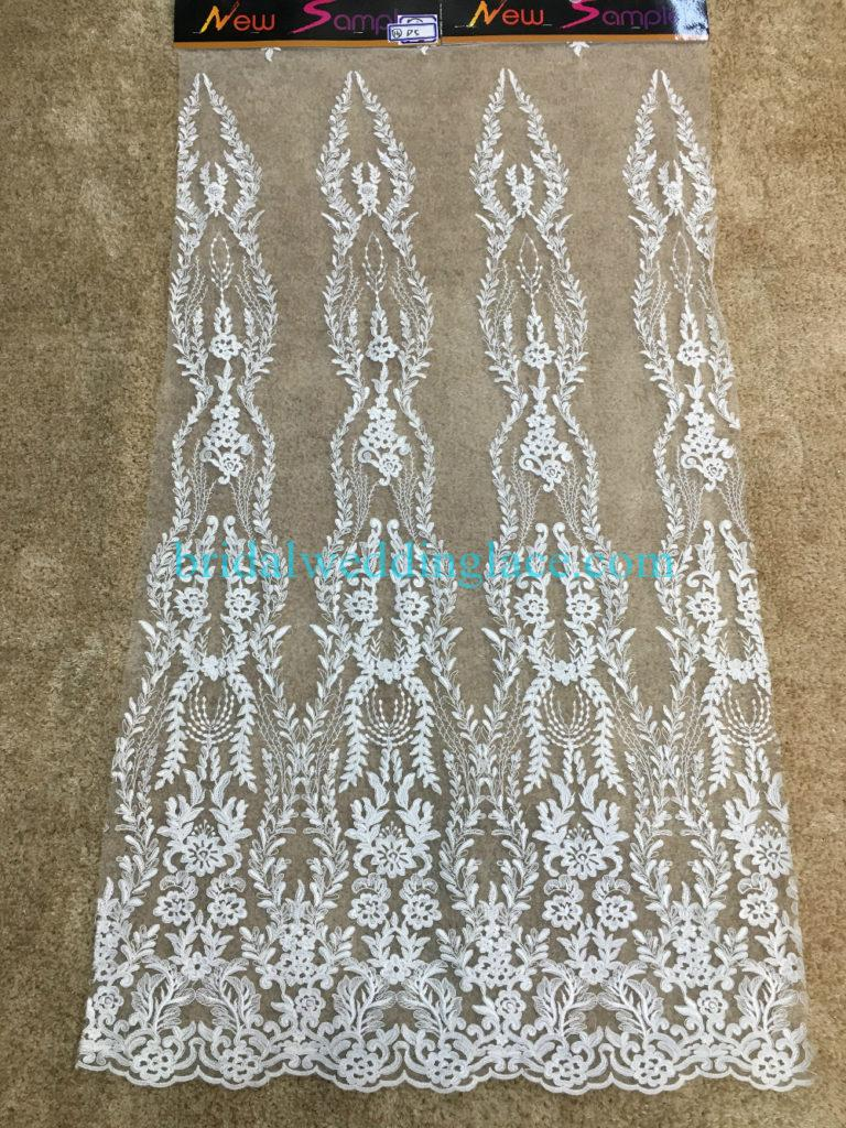 Quality Ivory Embroidery Bridal Lace Fabrics Bodice To Skirt One Piece Lace #941203