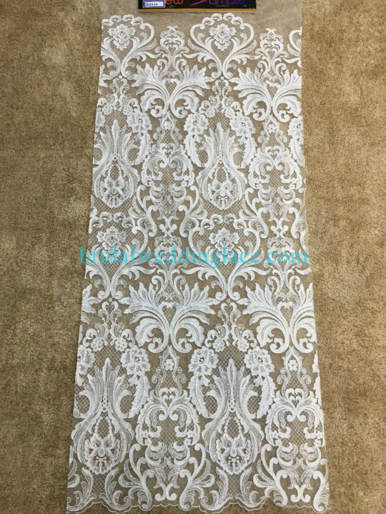 #941206 Quality Ivory Embroidery Bridal Lace Fabrics Bodice To Skirt One Piece Lace