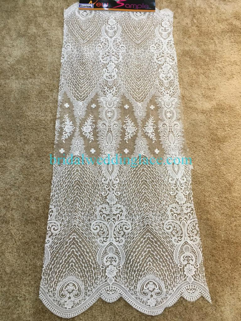 #BLF194231104 beaded bridal lace ivory wedding lace fabric DIY