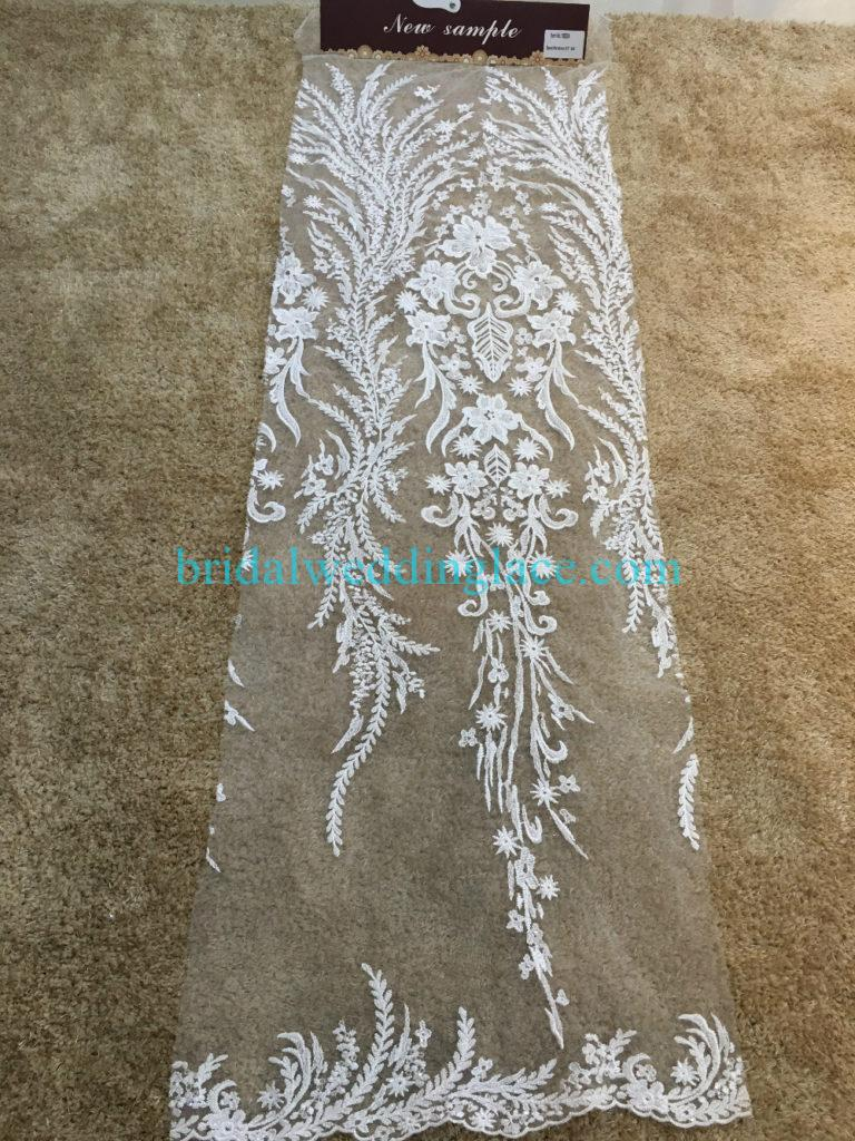 #BLF194231105 beaded bridal lace ivory wedding lace fabric DIY