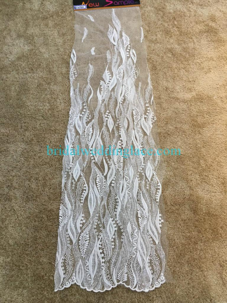 #BLF194231108 beaded bridal lace ivory wedding lace fabric DIY