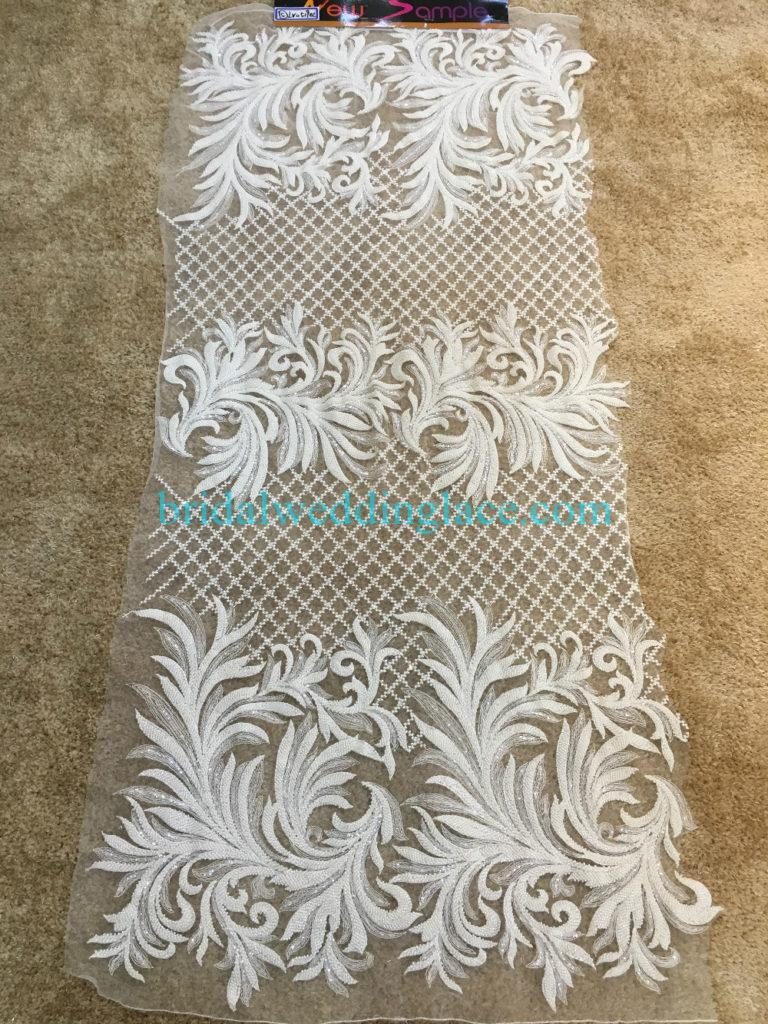 #BLF194231109 beaded bridal lace ivory wedding lace fabric DIY