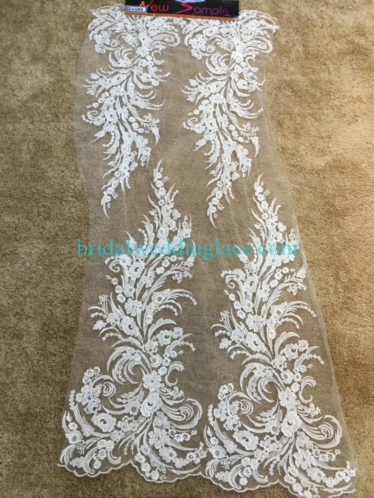 #BLF194231114 beaded bridal lace ivory wedding lace fabric DIY