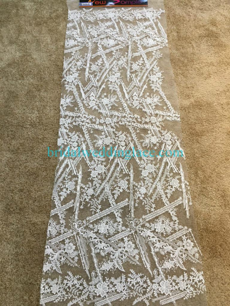 #BLF194231115 beaded bridal lace ivory wedding lace fabric DIY