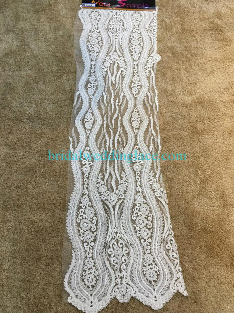 #BLF194231116 beaded bridal lace ivory wedding lace fabric DIY