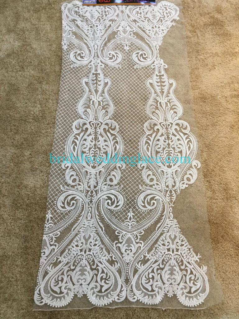 #BLF194231118 beaded bridal lace ivory wedding lace fabric DIY
