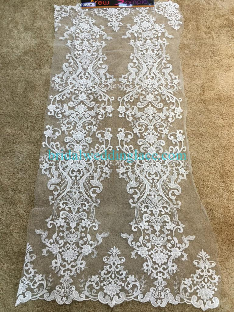 #BLF194231119 beaded bridal lace ivory wedding lace fabric DIY
