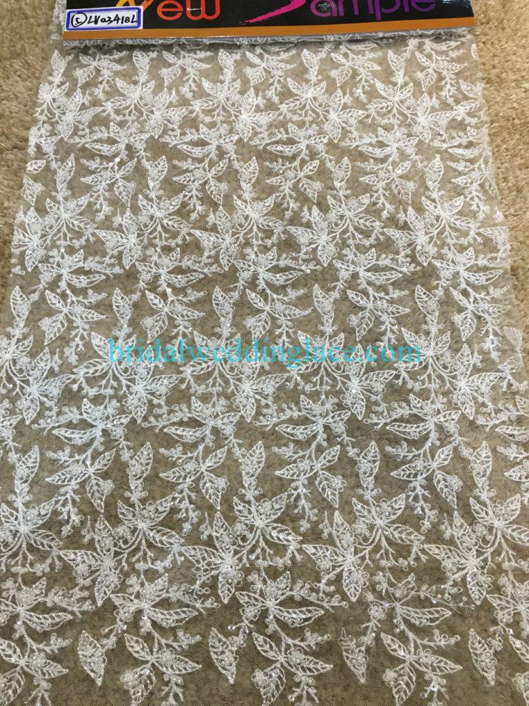 #BLF194231122 beaded bridal lace ivory wedding lace fabric DIY