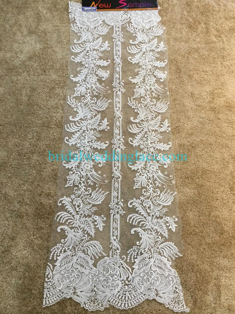 #BLF194231123 beaded bridal lace ivory wedding lace fabric DIY