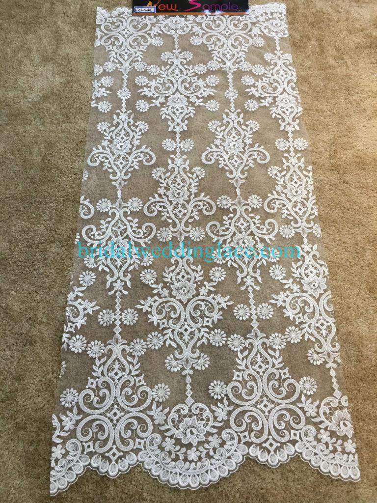 #BLF194231124 beaded bridal lace ivory wedding lace fabric DIY