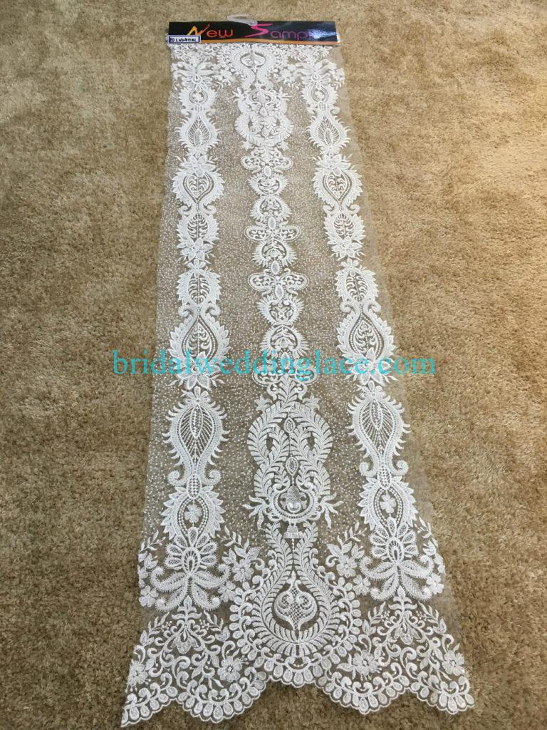 #BLF194231125 beaded bridal lace ivory wedding lace fabric DIY