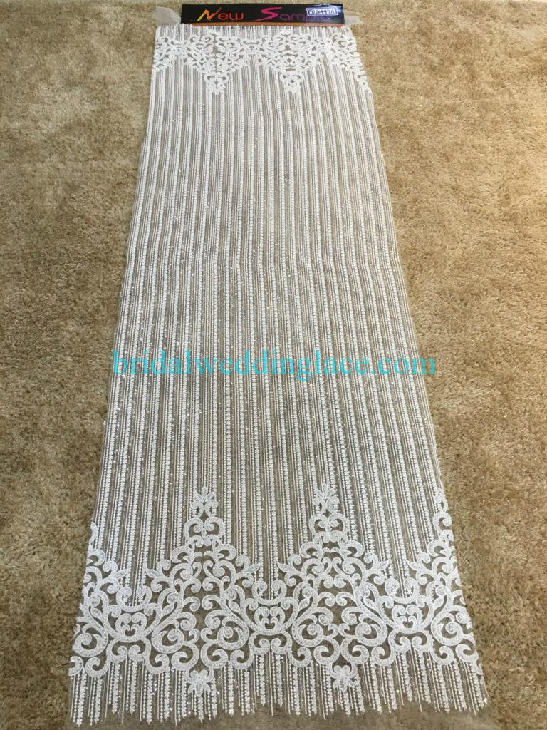 #BLF194231126 beaded bridal lace ivory wedding lace fabric DIY