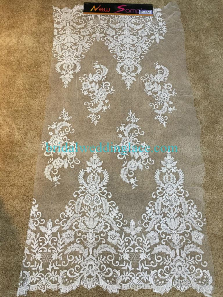 #BLF194231130 beaded bridal lace ivory wedding lace fabric DIY