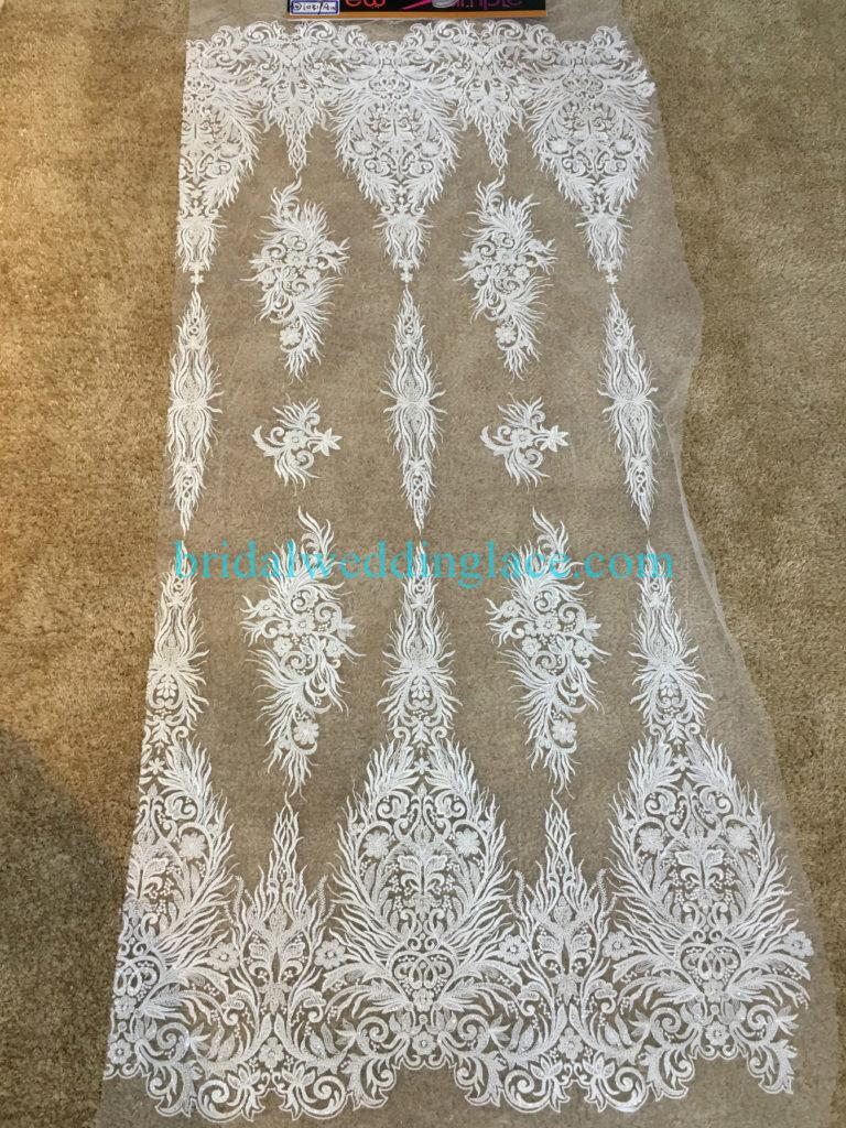 #BLF194231131 beaded bridal lace ivory wedding lace fabric DIY
