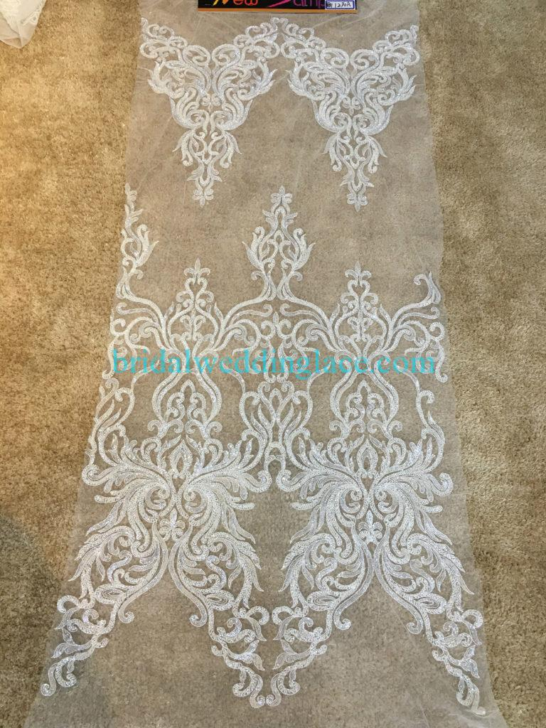 #BLF194231132 beaded bridal lace ivory wedding lace fabric DIY