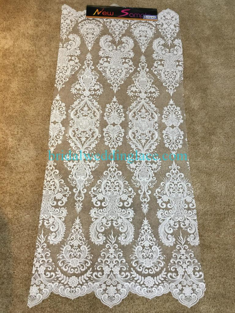#BLF194231133 beaded bridal lace ivory wedding lace fabric DIY