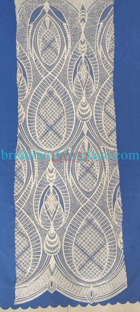 #BLF20081630 beading embellishment bridal lace fabrics light ivory off white beaded wedding lace fabrics DIY