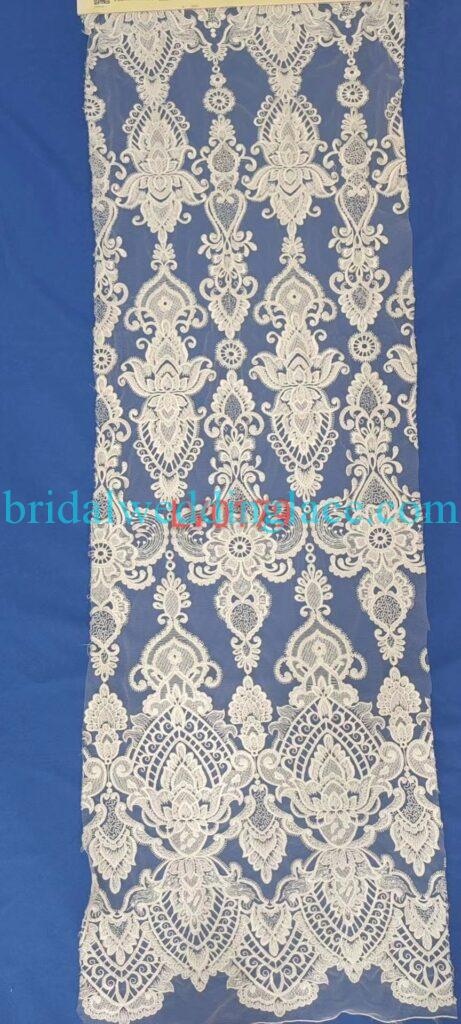 #BLF20081631 beading embellishment bridal lace fabrics light ivory off white beaded wedding lace fabrics DIY