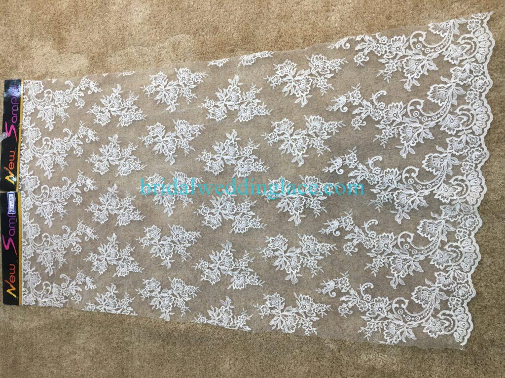 #20083146 Quality Embroidery Corded Bridal Lace Fabrics
