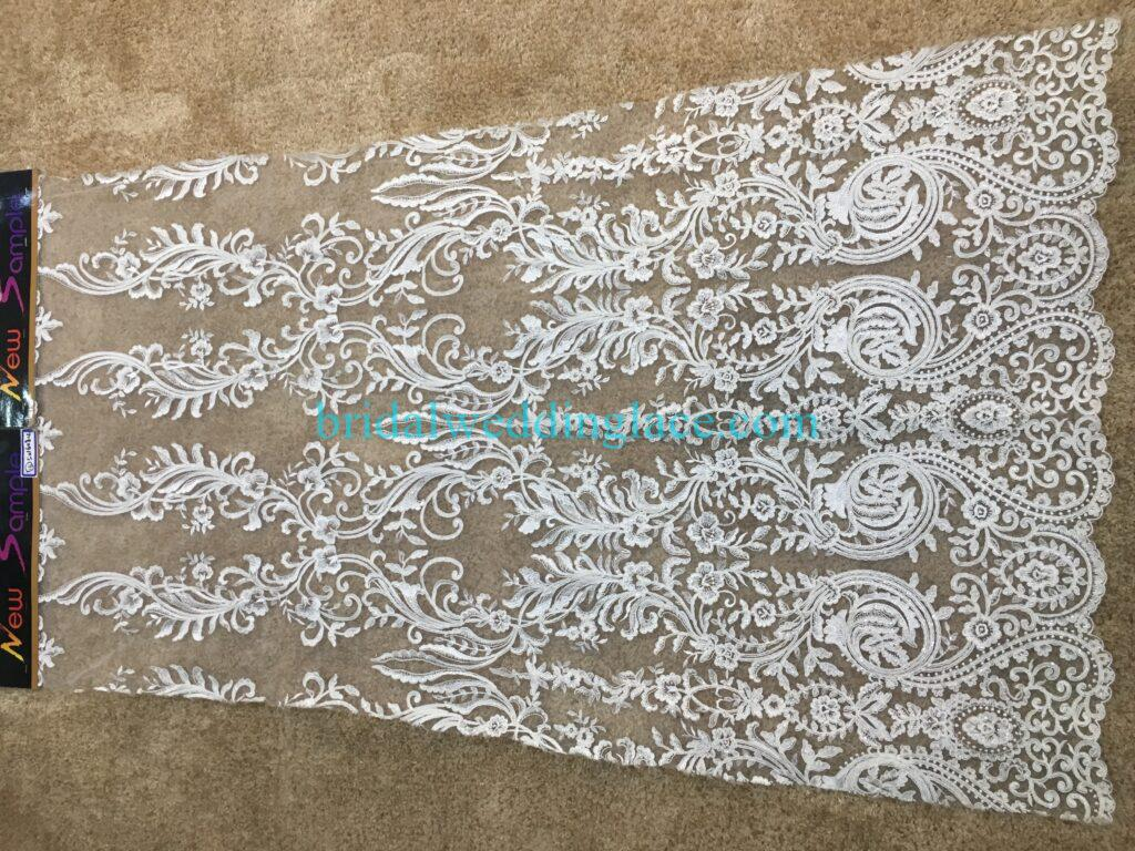 #20083144 Quality Embroidery Corded Bridal Lace Fabrics