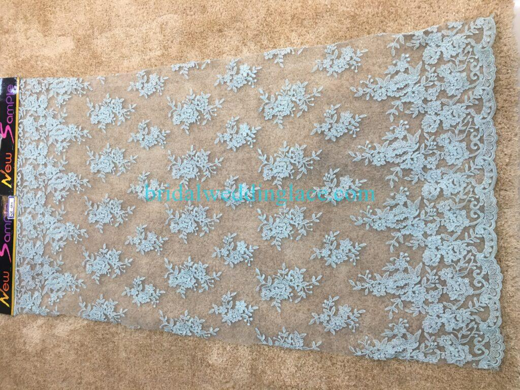 #20083141 Quality Embroidery Corded Bridal Lace Fabrics