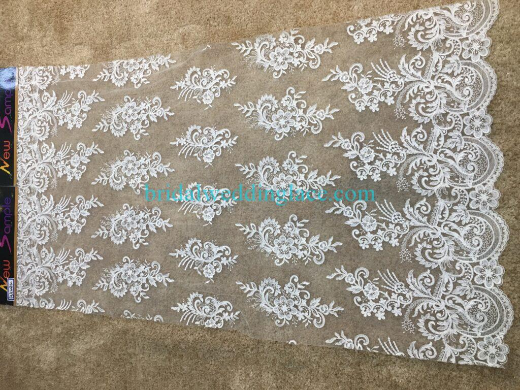 #20083139 Quality Embroidery Corded Bridal Lace Fabrics