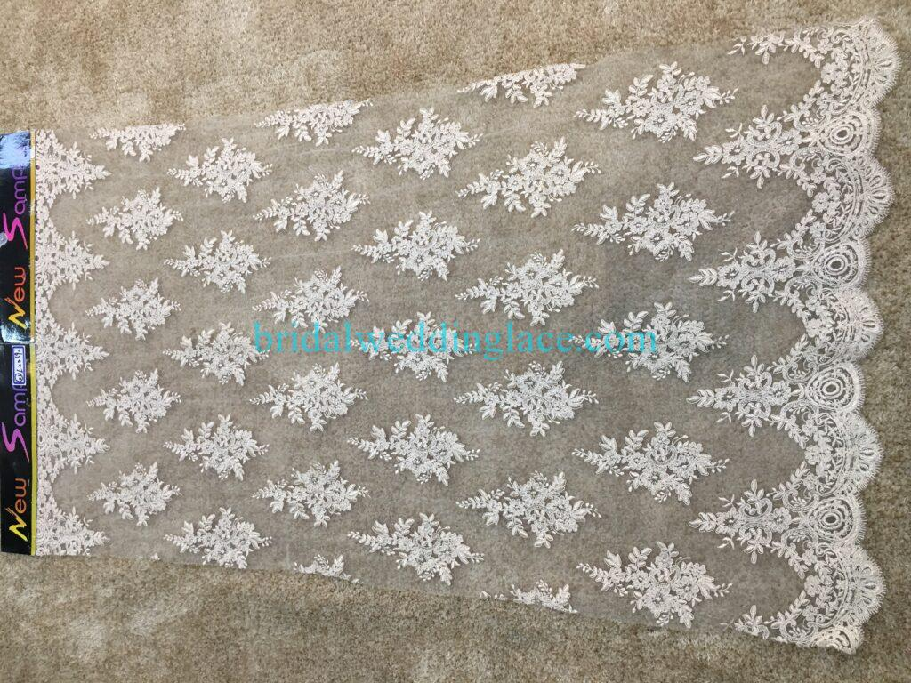 #20083136 Quality Embroidery Corded Bridal Lace Fabrics