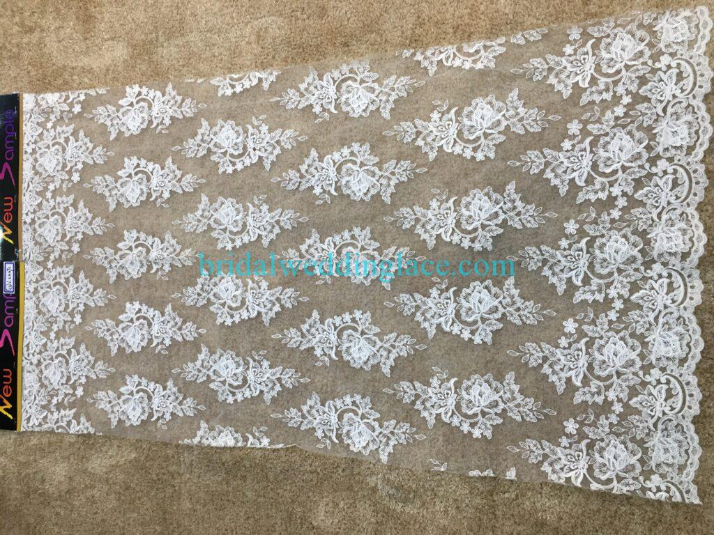 #20083134 Quality Embroidery Corded Bridal Lace Fabrics