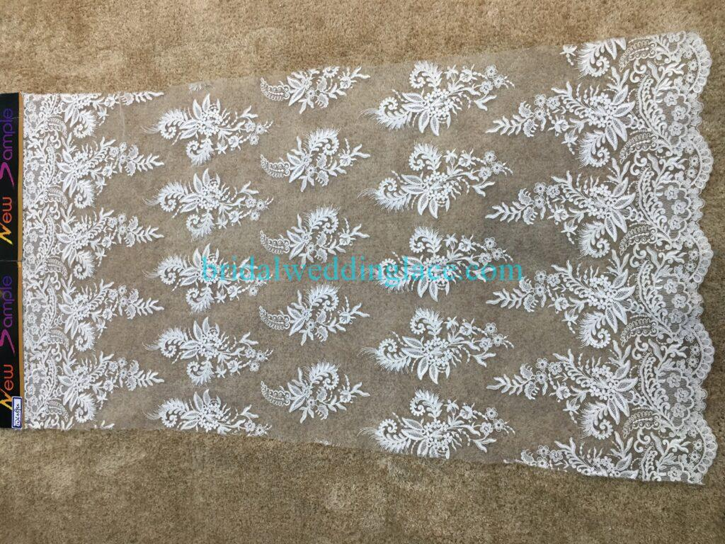 #20083131 Quality Embroidery Corded Bridal Lace Fabrics